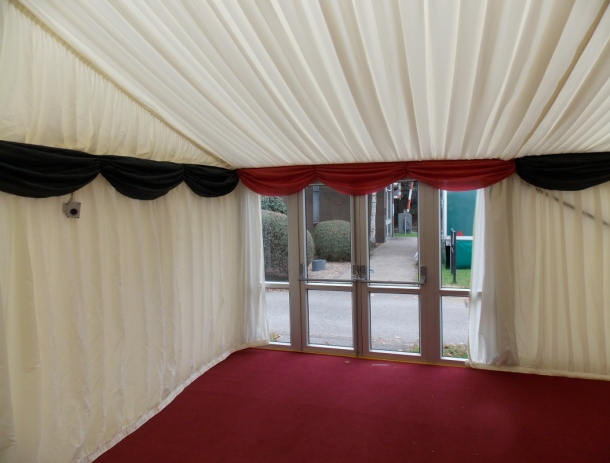 Marquee Interiors, Linings and Drapes